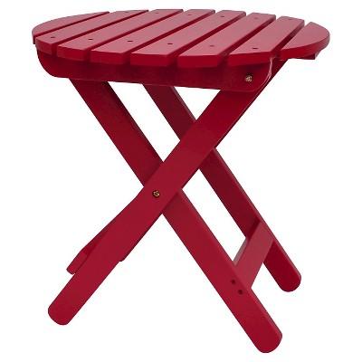 Shine Company Wood Patio Adirondack Folding Table Round