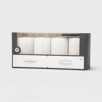 "5"" x 3"" LED Flameless Black Wick Candle White - Threshold™"