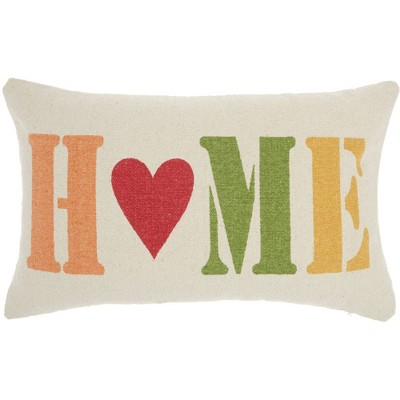 """14""""x22"""" Home Holiday Throw Pillow Ivory - Nourison"""