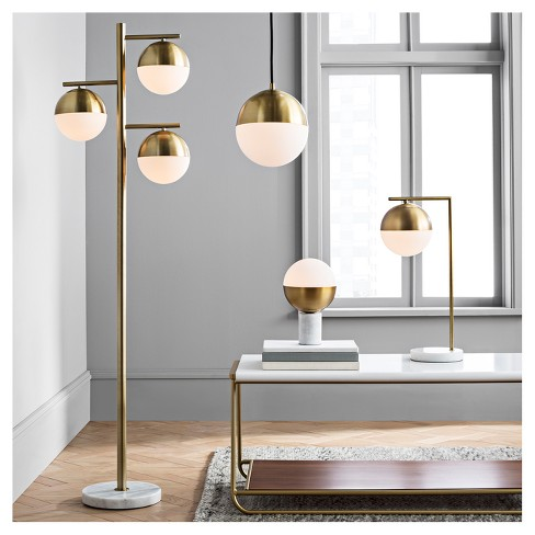Geneva Glass Globe with Marble Base Task Lamp Brass - Project 62™