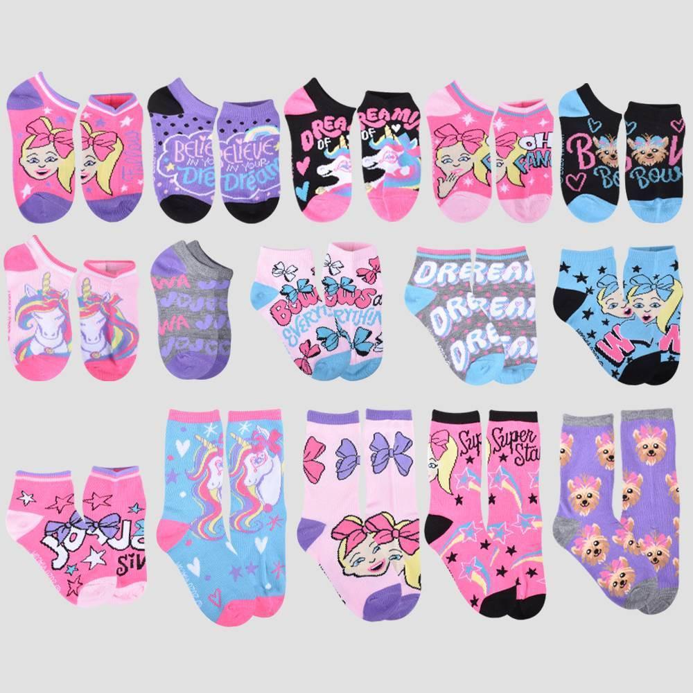 Promos Girls' JoJo Siwa 15 Days of Socks Advent Calendar -
