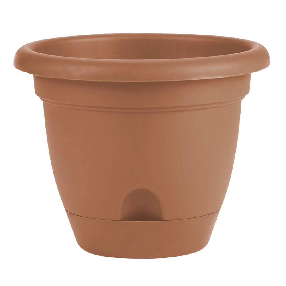 "Image of ""10"""" Lucca Self Watering Planter Terra Cotta Bloem"""