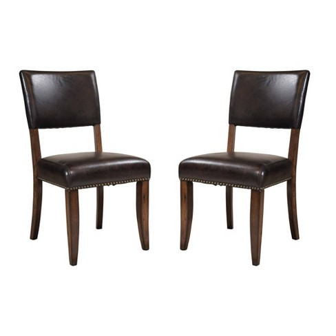 Set Of 2 Cameron Parson Dining Chair Chestnut Brown – Hillsdale Furniture - image 1 of 3