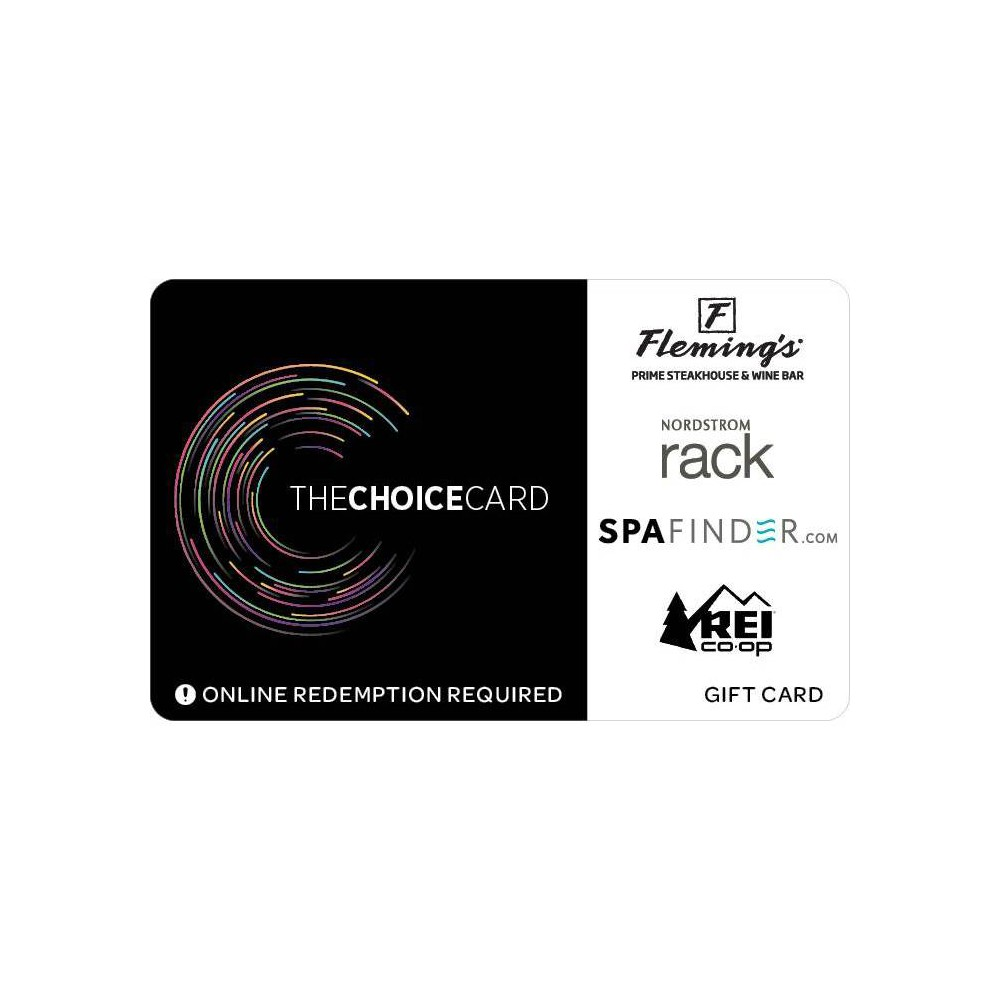 The Choice Card Gift Card 75 Email Delivery