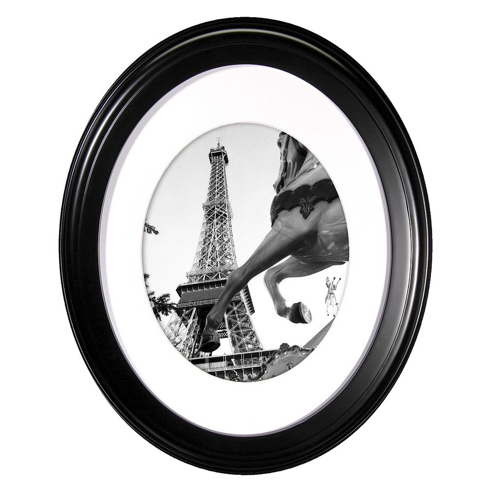 "Image of ""8"""" x 10"""" Oval Wall Frame Black - MCS"""