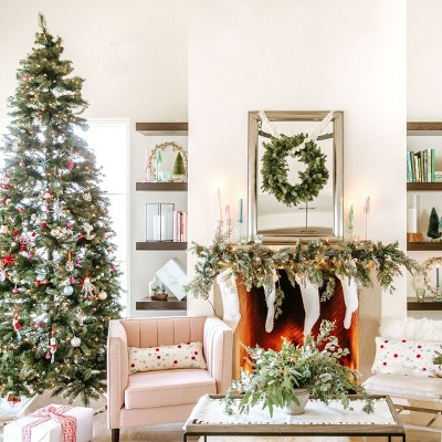 Colorful Christmas Living Room Decorations Collection styled by Camille Styles