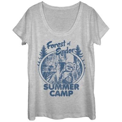 Women's Star Wars Forest of Endor Summer Camp Scoop Neck