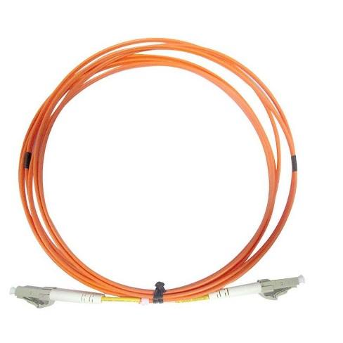 Monoprice OM2 Fiber Optic Cable - 5 Meters, LC/UPC-LC/UPC, Multi Mode, Duplex, 50/125 micrometer Type, 2.0mm, OFNR - image 1 of 1
