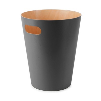 Umbra 2gal Woodrow Indoor Trash Can Dark Gray