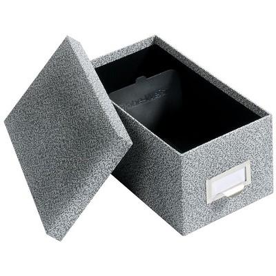 Globe-Weis Index Card File Box Black Agate 1000 Card Capacity (GLW 94 BLA) 194407