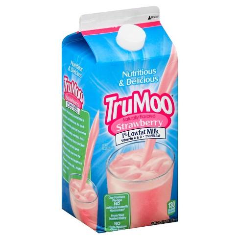 TruMoo 1% Strawberry Milk - 0.5gal - image 1 of 1