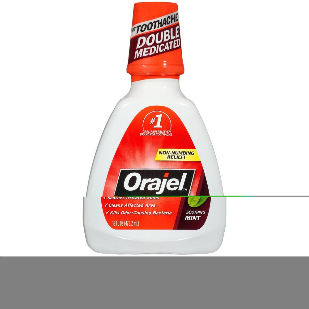 Image of Orajel Soothing Mint Toothache Rinse - 16 fl oz