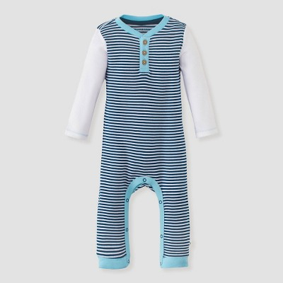 Burt's Bees Baby® Baby Boys' Classic Stripe Jumpsuit - Purple 0-3M
