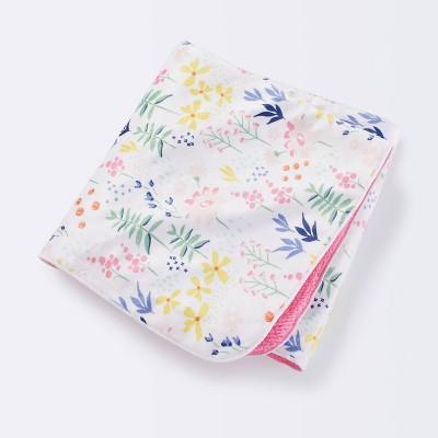 Plush Velboa Baby Blanket Wildflower - Cloud Island™ Pink