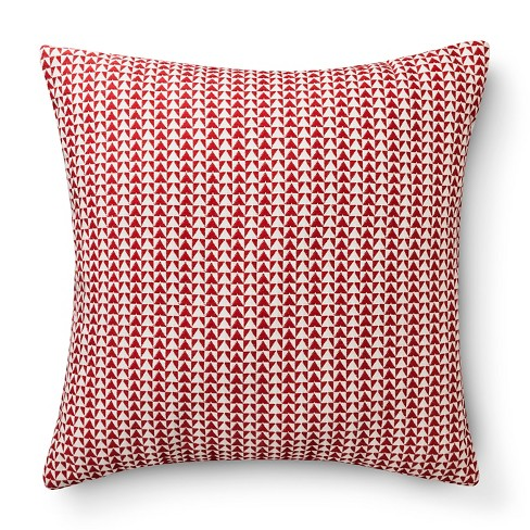 """Woven Triangle Pillow - Red (18x18"""") - Room Essentials™ - image 1 of 1"""