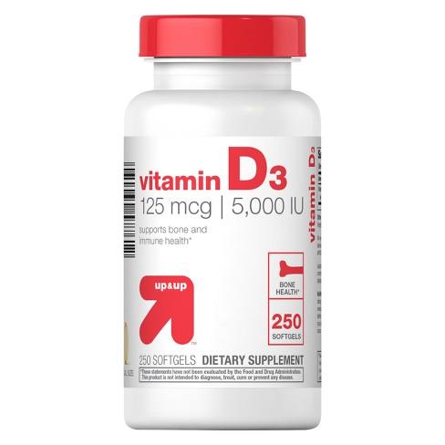 Vitamin D 5000IU Softgels - 250ct - up & up™ - image 1 of 1