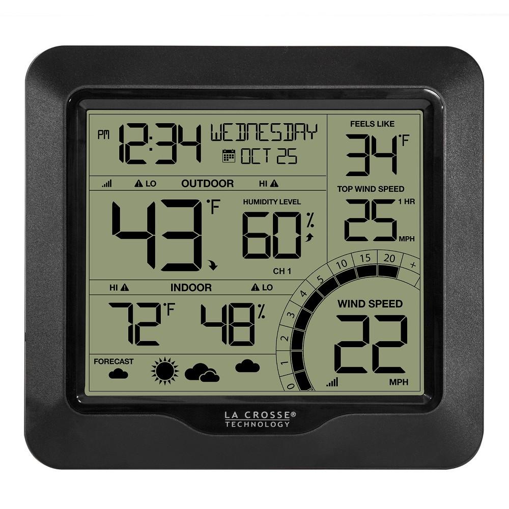 La Crosse Technology Wind Speed Weather Station - Black and White La Crosse Technology Wind Speed Weather Station - Black and White