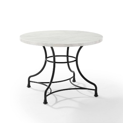 "40"" Madeleine Round Dining Table Matte Black - Crosley"