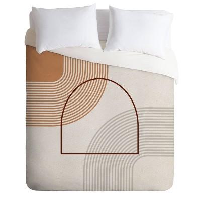 Iveta Abolina Mid Century Line Art Duvet Set - Deny Designs