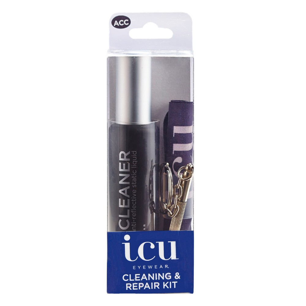 Icu Eyewear Cleaning and Repair Kit - 1ct, Black