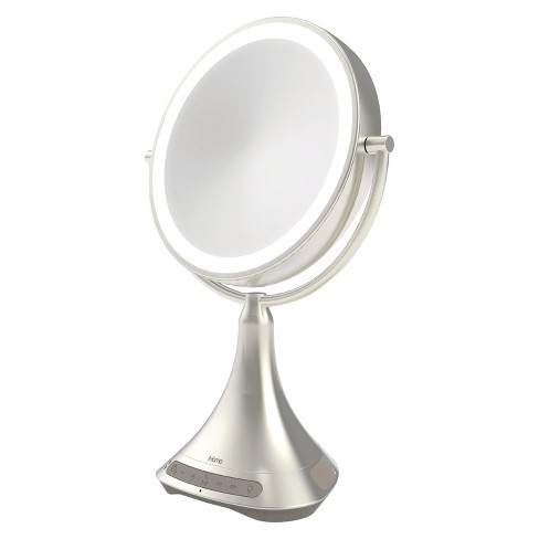 Ihome 9 Portable And Rechargeable Double Sided Vanity Mirror With