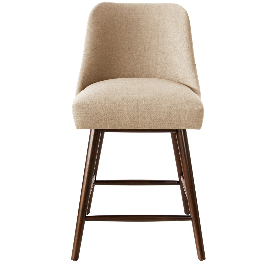 Geller Modern Counter Stool Tan Linen - Project 62