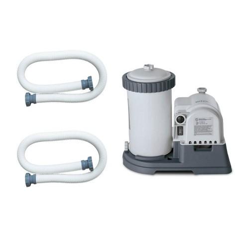 Intex Pool Pump Hose 59 Inch Long (2 Pack) & 2500 GPH Filter Cartridge Pump - image 1 of 4