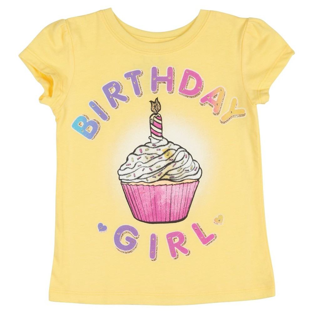 Toddler Girls' Birthday Girls' T-Shirt 18M, Yellow