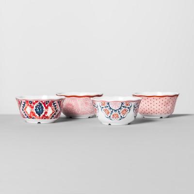 Melamine Bowls 24oz Pink/Red Set of 4 - Opalhouse™