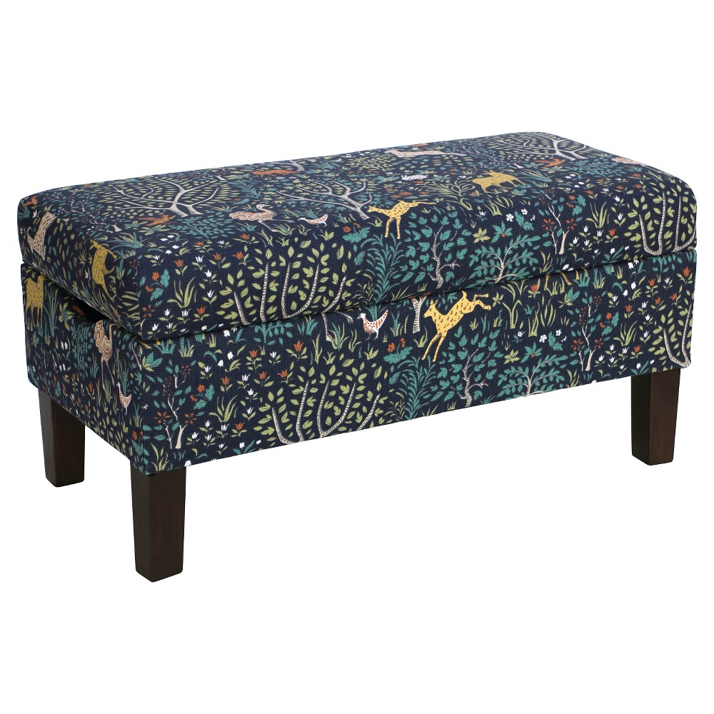 Skyline Bedroom Patterned Storage Bench - Skyline Furniture, Folkland Admiral