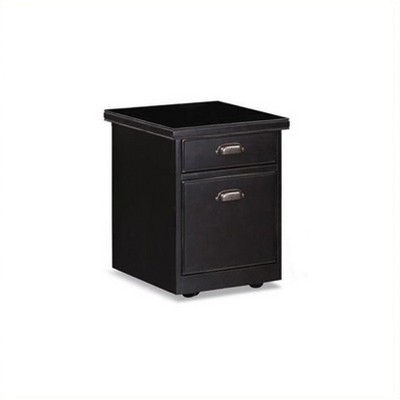 Merveilleux Wood 2 Drawer Mobile Wood File Storage Cabinet In Black Beaumont Lane