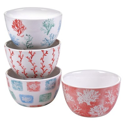 Certified International Water Coral 22oz Ice Cream Bowl - Set of 4