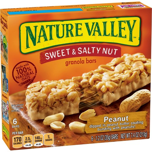 Nature Valley Sweet & Salty Nut Peanut Granola Bars - 6ct - image 1 of 3