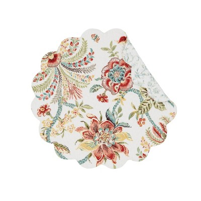C&F Home Braganza Cotton Quilted Round Reversible Placemat Set of 6