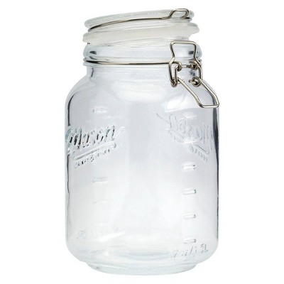Mason Craft & More 1.5L Clamp Jars