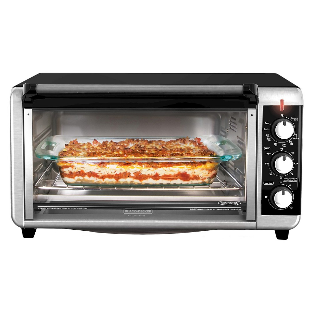 Black+decker 8-Slice Extra Wide Convection Countertop Toaster Oven - Stainless Steel (Silver) TO3250XSB