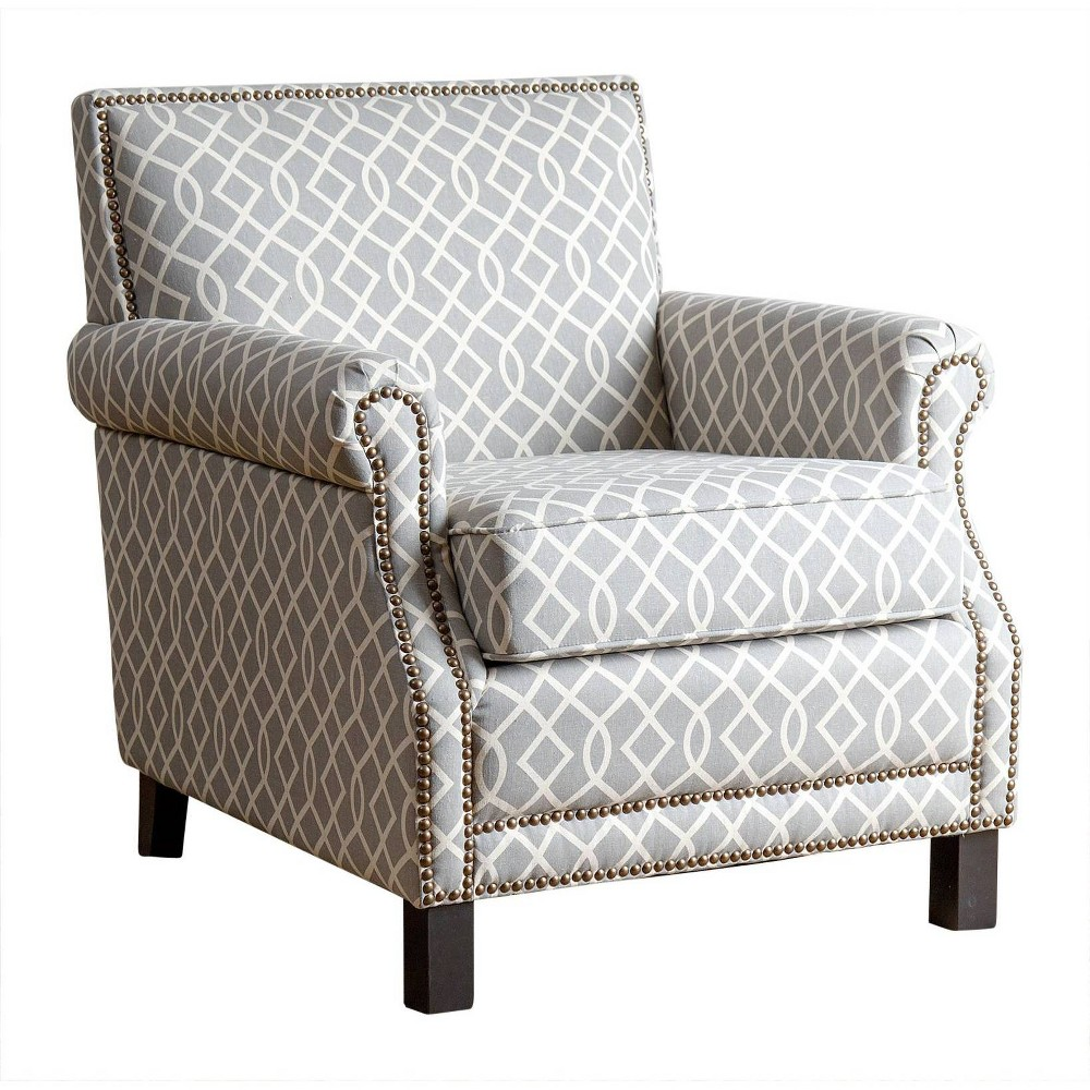Chloe Fabric Pattern Club Chair Gray - Abbyson Living