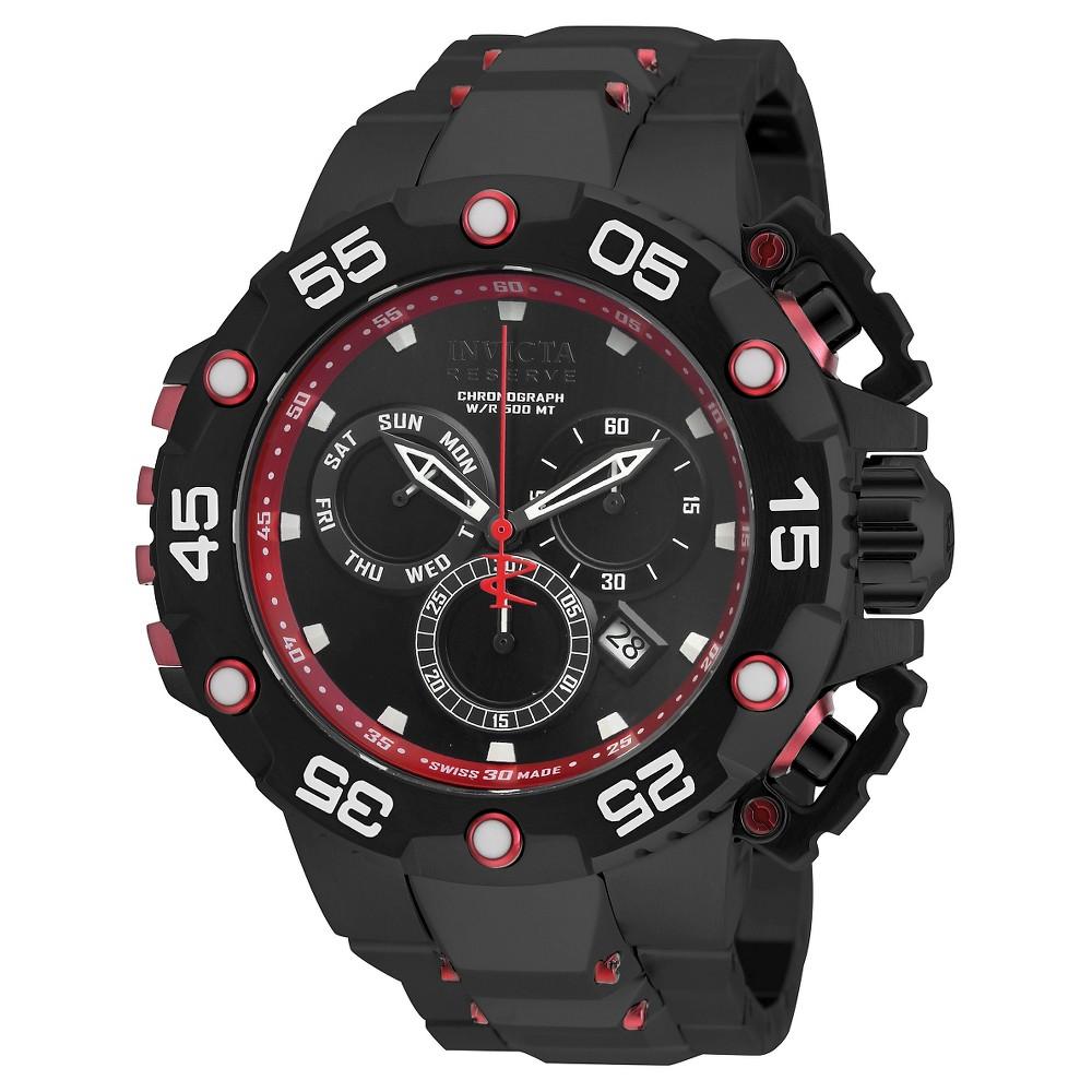 Men's Invicta 21604 Excursion Quartz Chronograph Black Dial Link Watch - Black