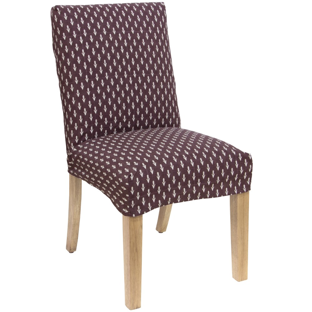 Hendrix Slipcover Dining Chair Plum Floral Skyline Furniture