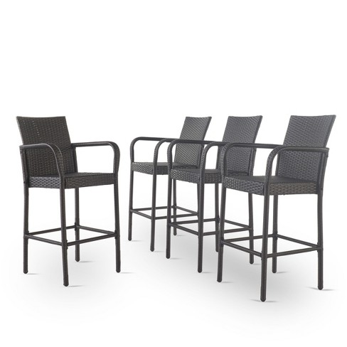 Delfina Set of 4 Wicker Barstool - Christopher Knight Home - image 1 of 4