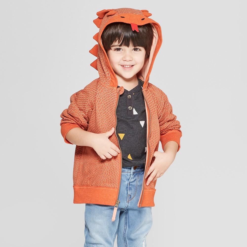 Genuine Kids from Oshkosh Toddler Boys' Lizard Dress Up Hoodie - Brown 4T