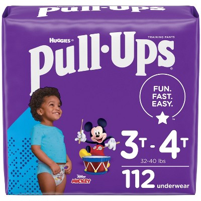Huggies Pull-Ups Boys' Learning Design Pack Disposable Training Pants - 3T-4T - 112ct