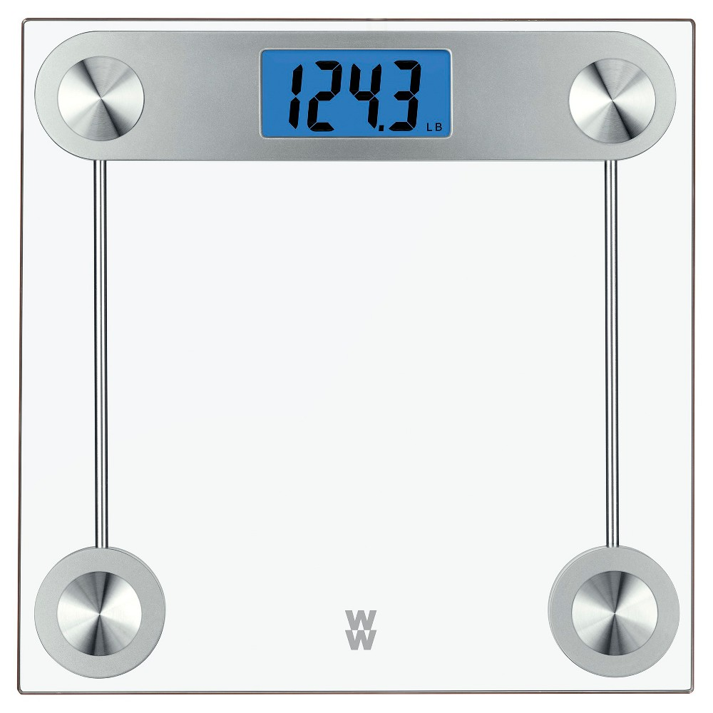 Image of Weight Watchers 24 TR Clear Glass Scale - Conair