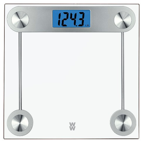 weight watchers 24 tr clear glass scale conair target