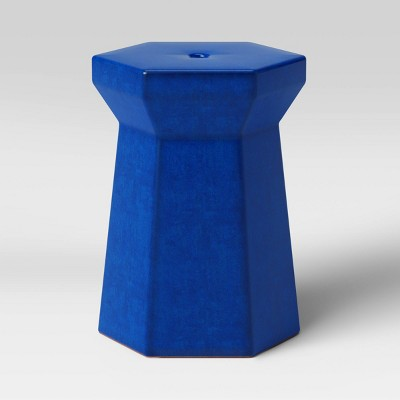 Modern Ceramic Patio Accent Table - Blue - Project 62™