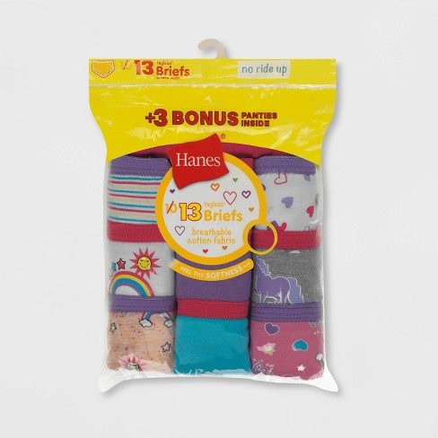 Hanes Girls' Briefs 10+3 Bonus Pack - Colors Vary - image 1 of 2