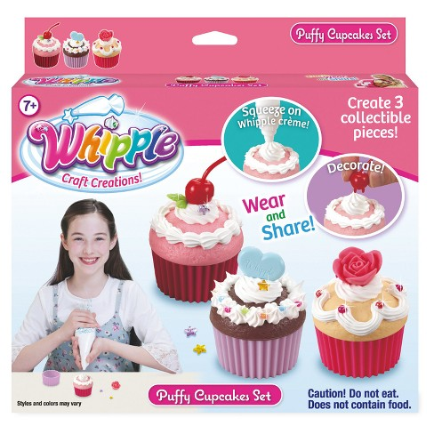 Whipple Puffy Cupcakes Set Dessert Jewelry Kit - image 1 of 2