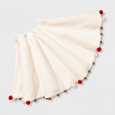 Tree Skirt with Pom and Bells - Opalhouse™