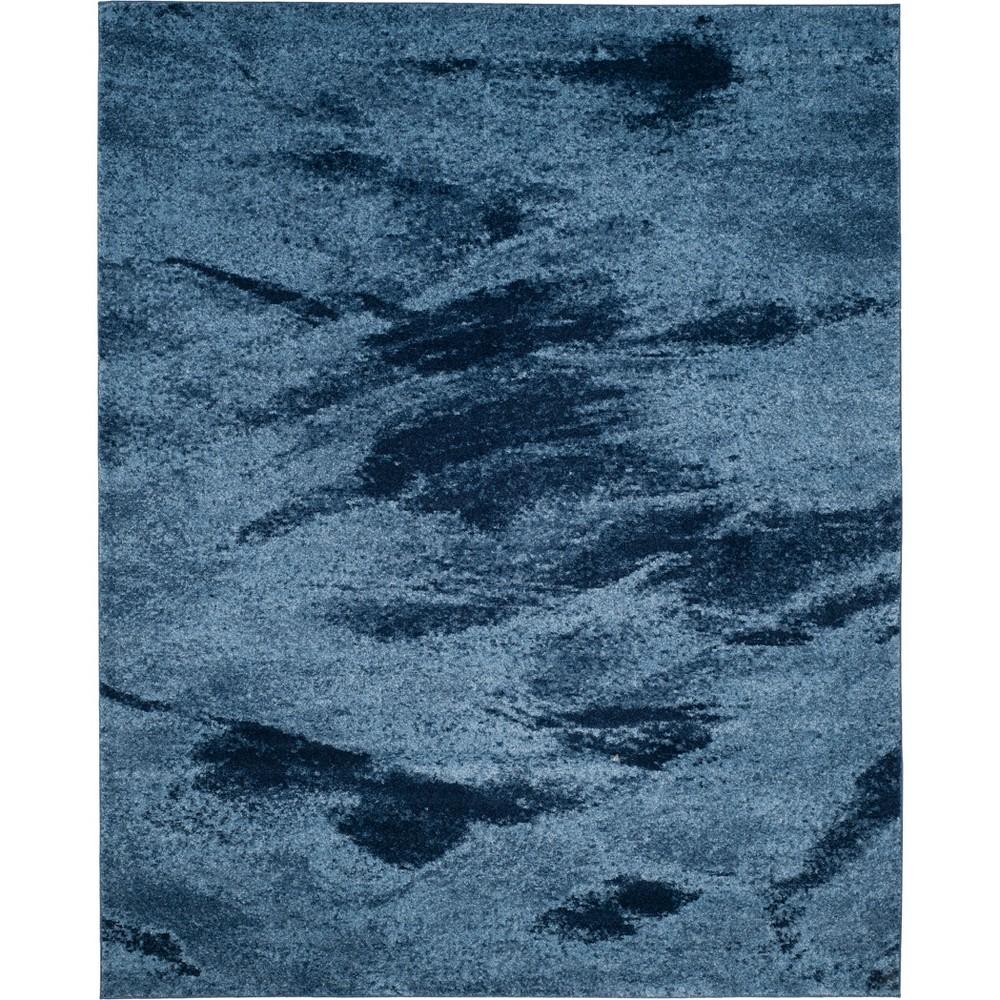 8'9X12' Marble Loomed Area Rug Blue - Safavieh