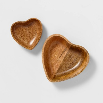 Heart Shaped Wood Trinket Tray Set of 2 - Sugar Paper ™